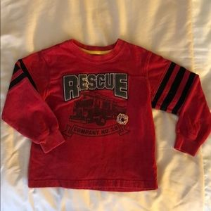 Carter's 3T Long Sleeve Fire Rescue Shirt